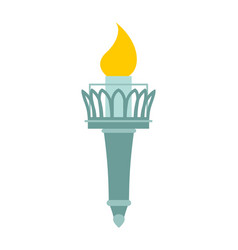 torch of statue of liberty lighthouse for ships vector image