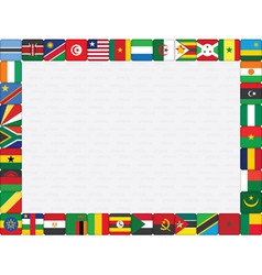 African countries flag icons frame vector image vector image