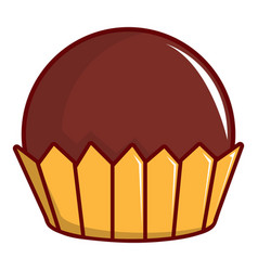 chocolate muffin icon cartoon style vector image