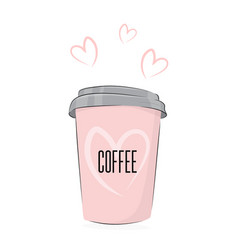 coffee drink cute food cup of vector image vector image