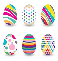 Easter day for egg isolated on design Colorful vector image vector image