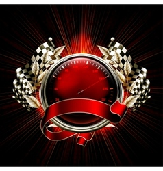 Red Emblem Races vector image vector image