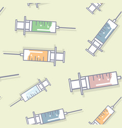 syringes line style vector image vector image