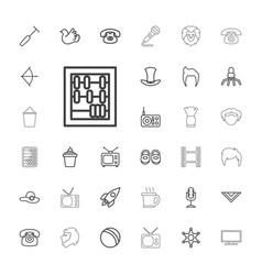 33 retro icons vector