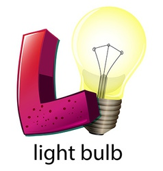 A letter L for lightbulb vector