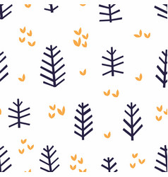 Abstract pattern with stylized branches vector