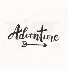 Adventure hand written lettering vector
