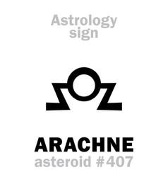 Astrology asteroid arachne vector