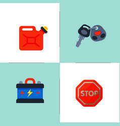 auto transport motorist icons symbols change vector image