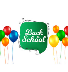 Back to school banner design with colorful vector