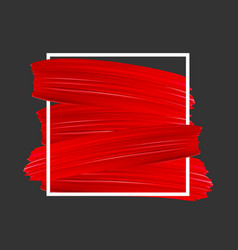 Background with red paint brush strokes vector