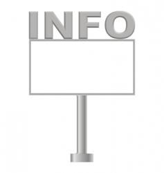 billboard info vector image