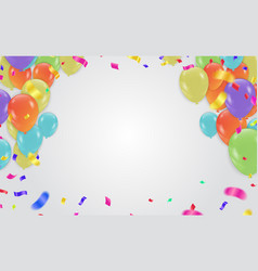 birthday card celebration carnival bright vector image