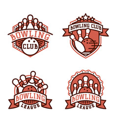 bowling emblem and design element logotype vector image