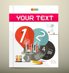 Brochure - Book Infographics Layout - Template vector image