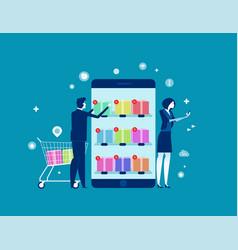 business person buy online shop concept business vector image