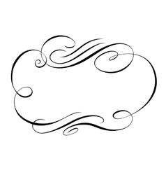 calligraphy ornamental decorative frame vector image