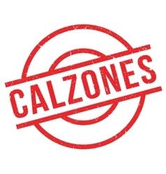Calzones rubber stamp vector