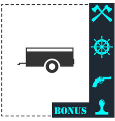 car trailer icon flat vector image