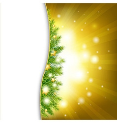 Christmas Background With Gold Stars vector image