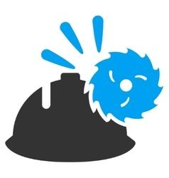Circular blade head protection icon vector