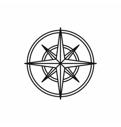 Compass wind rose icon outline style vector