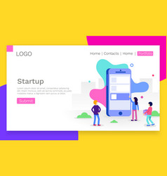 concept app development for website vector image