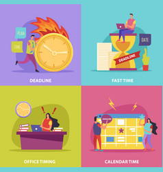 Deadline flat design concept vector