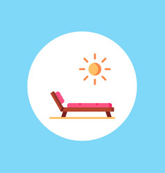 deck chair icon sign symbol vector image