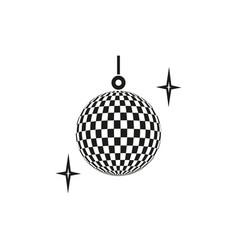 disco ball party icon vector image