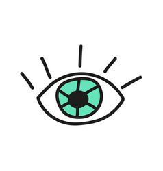 Doodle eye icon vector