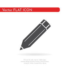 Flat icon pencil for web business finance and vector