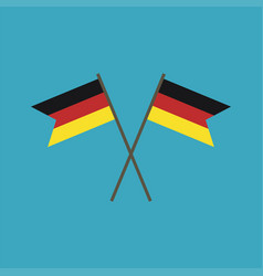 Germany flag icon in flat design vector