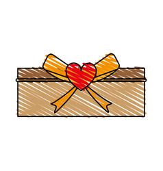 Giftbox with ribbon vector