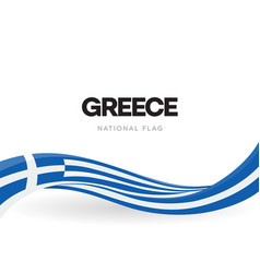 greece waving flag banner greek national vector image