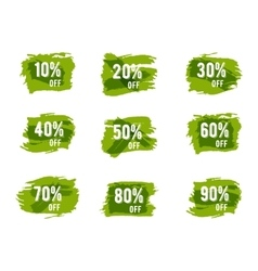 Green ecology sale percents autumn colors vector