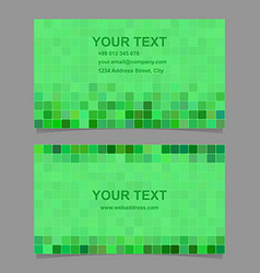 Green square mosaic business card template design vector