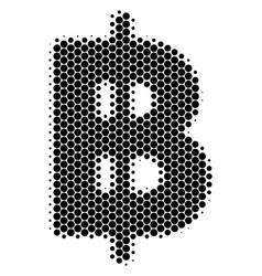 Halftone dot baht icon vector