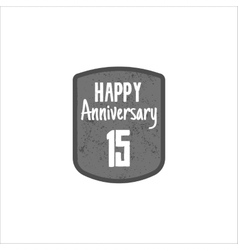 Happy 15th anniversary badge sign and emblem vector