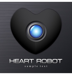 Heart Robot Dark Valentine vector