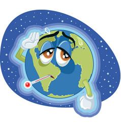 High temperature global warming earth concept illu vector