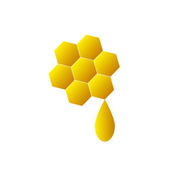honey icon on white background vector image