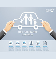 insurance policy services conceptual design vector image