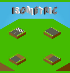 Isometric road set of incomplete unfinished vector
