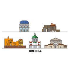 Italy brescia flat landmarks vector