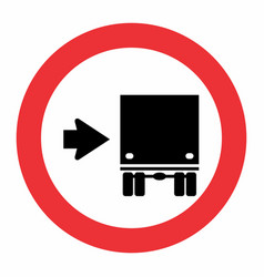 keep right traffic sign vector image