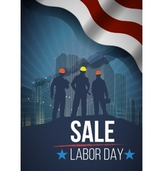 Labor day sale american text signs vector