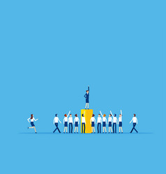 leader speech and crowd people business vector image