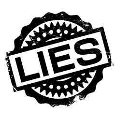 Lies rubber stamp vector
