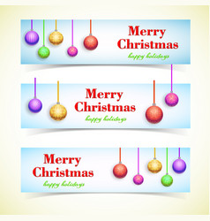 light greeting horizontal banners vector image